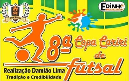 Neste sábado terá início a 8ª Copa Cariri de Futsal, confira os confrontos de abertura