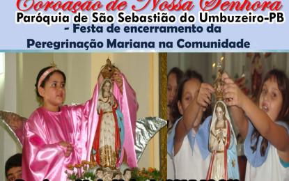 São Sebastião do Umbuzeiro realiza neste domingo Coroação de Nossa Senhora
