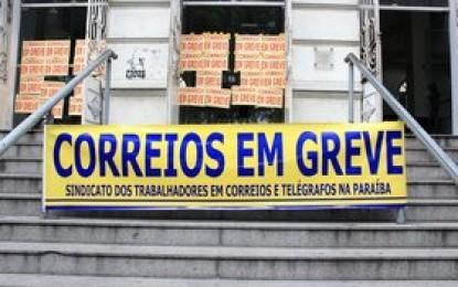 Funcionários dos Correios entram em greve a partir desta quarta