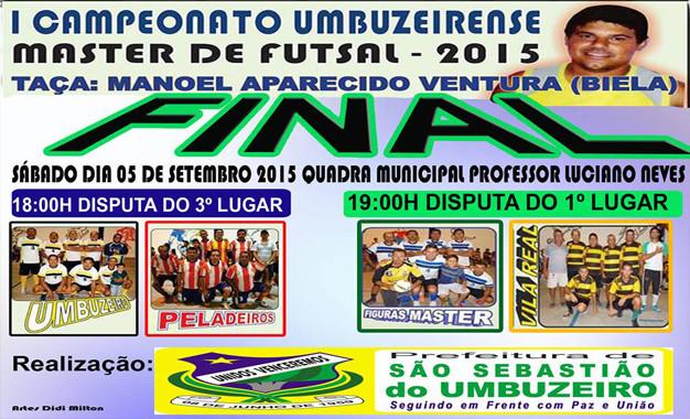 Final do Campeonato de Master Futsal Umbuzeirense