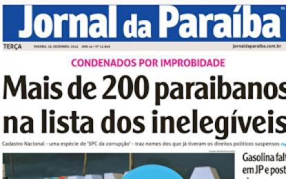 Mais de 200 políticos paraibanos estão inelegíveis na Paraíba