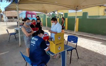 Segunda dose da vacina contra a Covid-19 é aplicada em São Sebastião do Umbuzeiro, segunda e terça será para as pessoas com idade de 40 anos mais