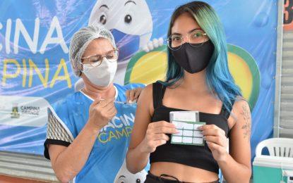 Campina Grande segue vacinação contra Covid-19 com pessoas a partir de 33 anos nesta quinta-feira