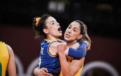 Brasil vence Rússia no vôlei feminino e enfrentará Coreia do Sul na semifinal dos Jogos Olímpicos
