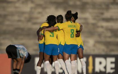Seleção Feminina bate a Argentina no Amigão, em Campina Grande