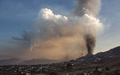 Espanha fecha aeroporto por causa de cinzas do vulcão Cumbre Vieja
